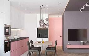 75m²公寓改造粉色公寓致梦爱丽丝餐厅其他设计图片赏析
