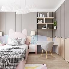 110平三居室现代简约风格卧室/儿童房