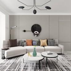 110平三居室现代简约风格-客厅篇