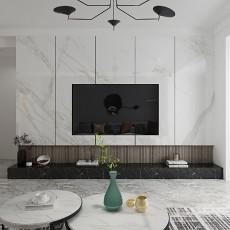 110平三居室现代简约风格客厅篇