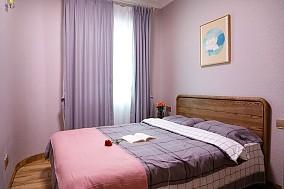 惠州浩天装饰东森华庭183㎡新中式卧室中式现代设计图片赏析
