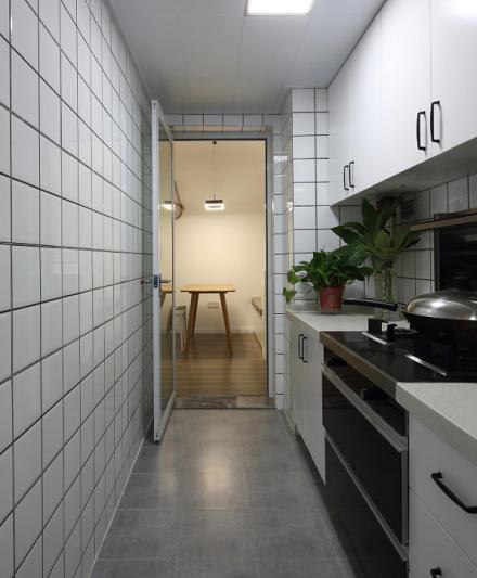 75平方简约美式风格暖色空间餐厅