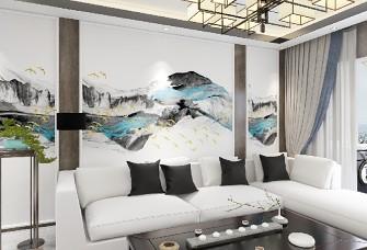 110平方新中式风格三居室