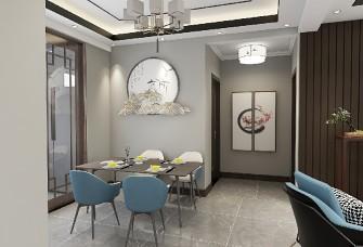 100平方新中式风格三居室