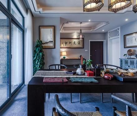 113m²新中式,天道酬勤泛蓝禅意小宅厨房2图
