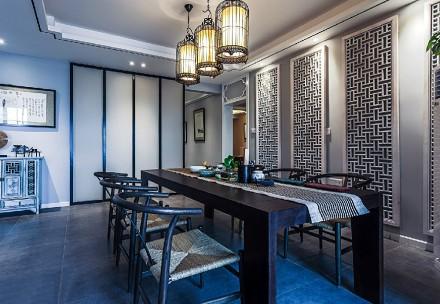 113m²新中式,天道酬勤泛蓝禅意小宅厨房3图