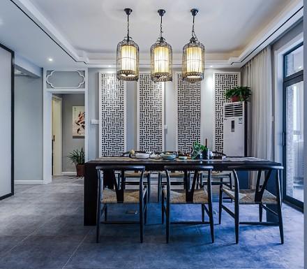 113m²新中式,天道酬勤泛蓝禅意小宅厨房4图