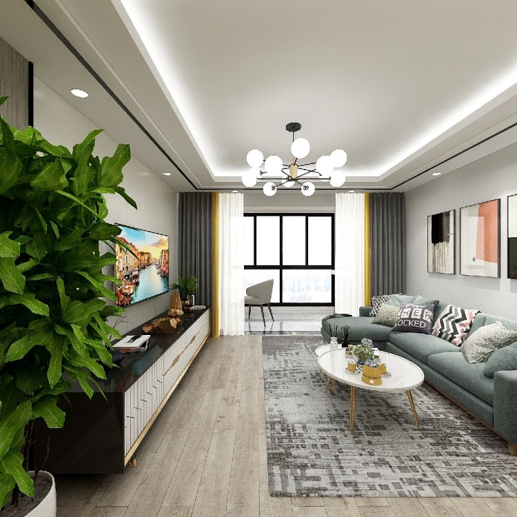 60㎡兩居室現代風格