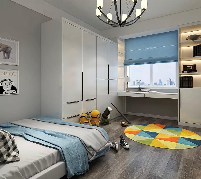 德信北海公园_80平中式现代三居装修效果案例-中年夫妻水墨灰色系的家装修 ...