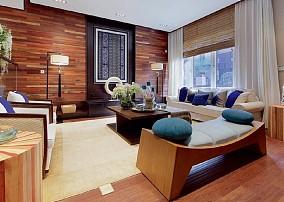 138m²中式风,舒适极为惬意的房间客厅中式现代设计图片赏析