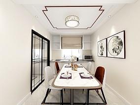 理想新城102平米新中式厨房中式现代设计图片赏析