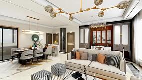 轻奢中式风,三代人的需要轻松满足!客厅中式现代设计图片赏析