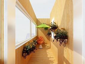 北欧为主结合混搭,推崇现代主义风格阳台2图北欧极简设计图片赏析