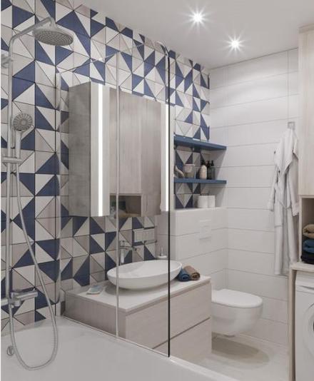 简约地中海80平小公寓一家三口的味道卫生间