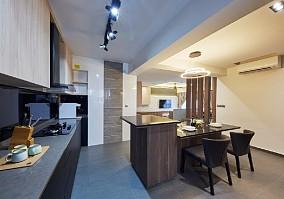 116㎡简白现代简约系列住宅餐厅中式现代设计图片赏析
