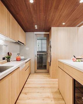 二人一猫的住所与猫一起度过漫漫时光厨房北欧极简设计图片赏析