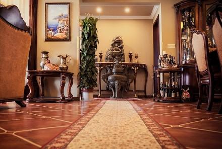 128㎡经典美式风格,复古典雅之家玄关