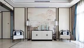 639㎡新中式别墅,优雅有品味!玄关中式现代设计图片赏析