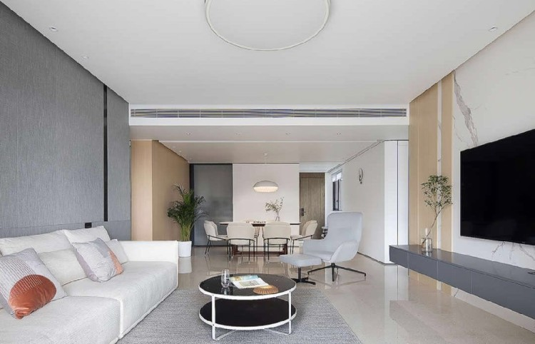 150平現代風,超大地臺床設計