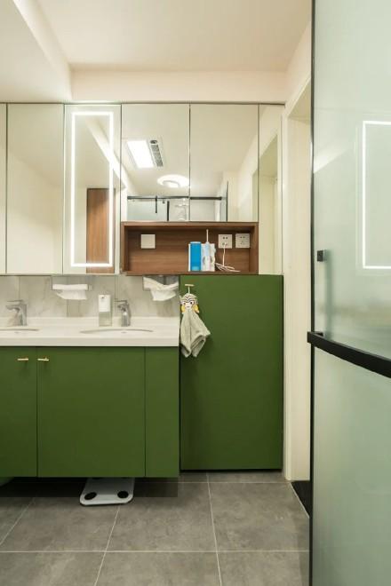 80㎡小公寓大改造,时尚、实用,舒适的家卫生间