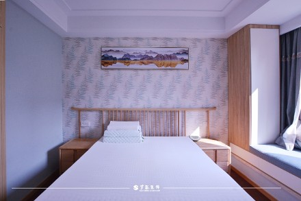 云溪新语精装房.清新感的中式风格小家卧室2图