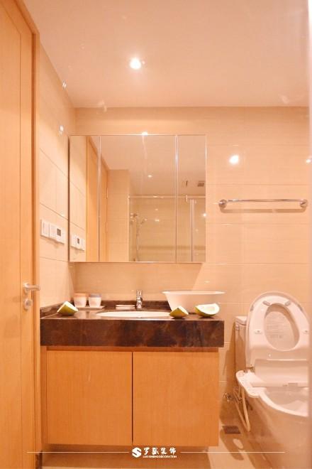 云溪新语精装房.清新感的中式风格小家卫生间