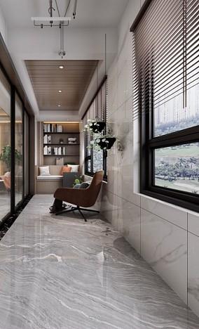伟星公园天下150平美式复古案例阳台美式经典设计图片赏析