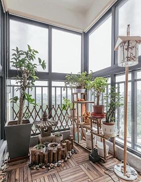 135㎡舒适宁静日式四居阳台日式设计图片赏析
