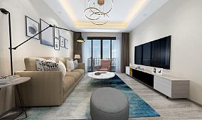 三居室北欧风格,简单的美16943083