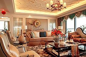 金都海尚国际7#样板房实景客厅1图欧式豪华设计图片赏析