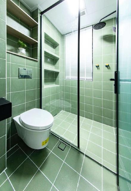 60平混搭风,打造一个现代轻复古的家卫生间