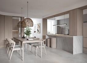 150㎡舒适随性居所日式风的温馨厨房日式设计图片赏析