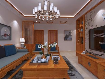 中式古典风格装修设计客厅1图
