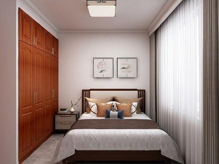 120㎡中国传统风格~卧室1图