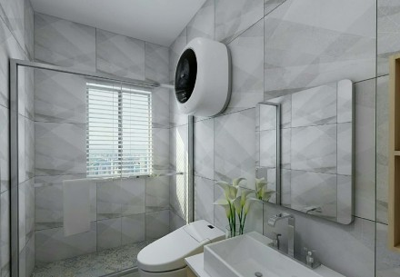 79平两居,海洋元素与家的完美融合卫生间