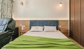 这个自然温暖的三口之家适合慢慢的享受生活卧室日式设计图片赏析