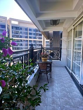 130方简欧三居室装修,打扫干净特漂亮!阳台欧式豪华设计图片赏析