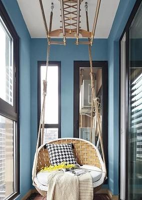 轻松而美好的舒适生活110㎡三居室阳台北欧极简设计图片赏析