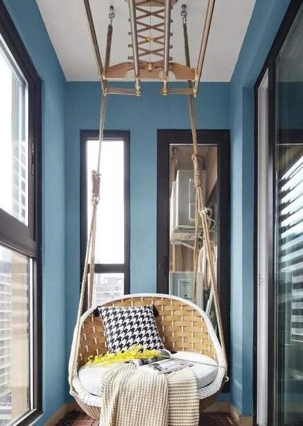 轻松而美好的舒适生活110㎡三居室阳台
