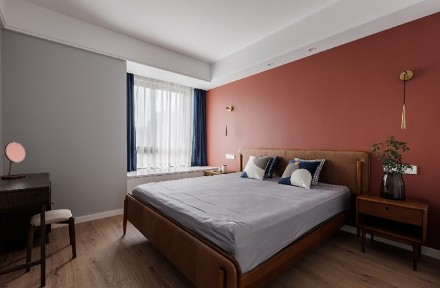 《大儿童》90㎡三室两厅现代北欧风卧室