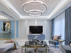 100㎡法式情调,满足对法式轻奢的想象客厅4图欧式豪华设计图片赏析