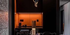 120平混搭风,黑色是宇宙的底色厨房潮流混搭设计图片赏析