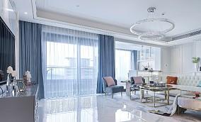 100㎡法式情调,满足对法式轻奢的想象客厅2图欧式豪华设计图片赏析