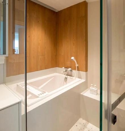 100㎡现代风两室装修,空间通透又灵动卫生间