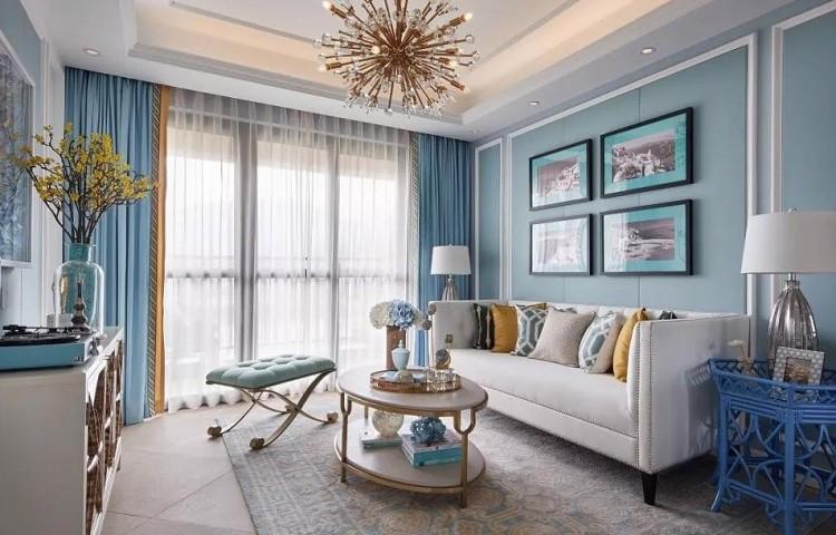 淡蓝色的浪漫唯美-130㎡四居室