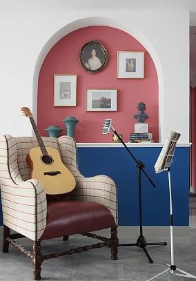 简约地中海,给新家注入一点蓝~客厅地中海设计图片赏析
