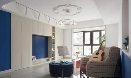 简约地中海,给新家注入一点蓝~客厅1图