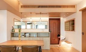 100㎡极简日式超级温馨舒适玄关2图日式设计图片赏析