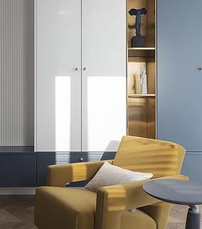 75平米高级又时髦的气质美居阳台北欧极简设计图片赏析