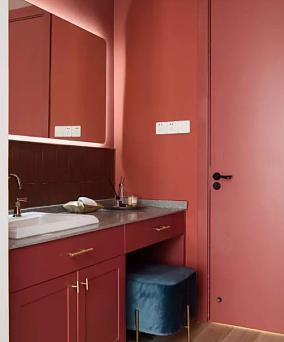 128平米现代风格设计ins风卫生间现代简约设计图片赏析
